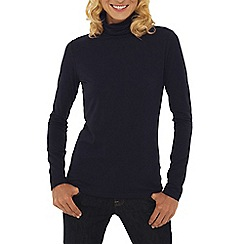 Lands' End - Blue petite cotton modal roll neck