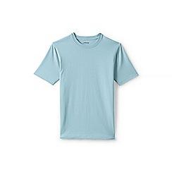 Lands' End - Blue short sleeve tailored fit super-t