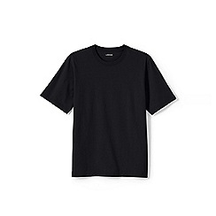 Lands' End - Black men's short sleeve tailored fit super-t