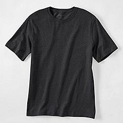 Lands' End - Grey men's short sleeve tailored fit super-t