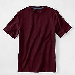 Lands' End - Red men's short sleeve tailored fit super-t