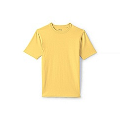Lands' End - Yellow short sleeve tailored fit super-t