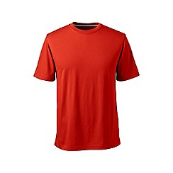 Lands' End - Orange short sleeve tailored fit super-t