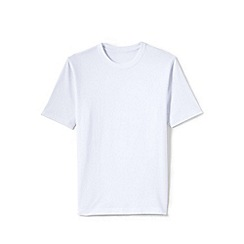 Lands' End - White men's short sleeve tailored fit super-t