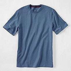 Lands' End - Blue men's short sleeve tailored fit super-t