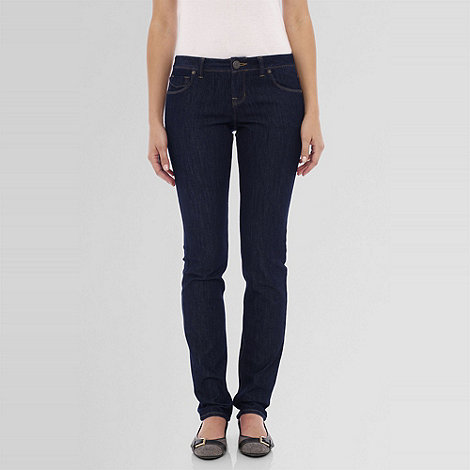 Lands+ End - Blue women+s ultrafit slim leg jeans