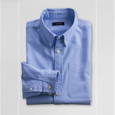 Blue Boys Long Sleeve Heritage Oxford Shirt