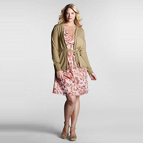 Lands+ End - Multi women+s plus floral cotton lawn empire waist dress