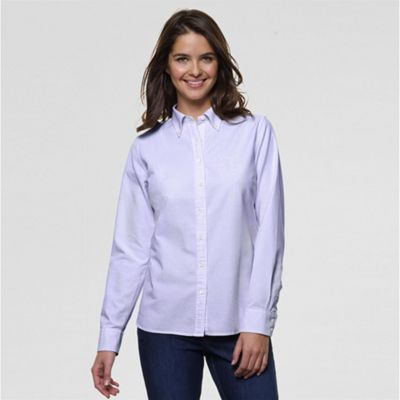 Purple Washed Oxford Stripe Shirt