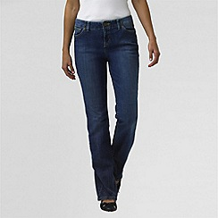 Lands' End - Blue petite bootcut stretch jeans with grown-on waist