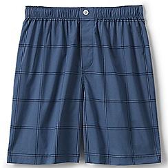 Lands' End - Blue broadcloth pyjama shorts