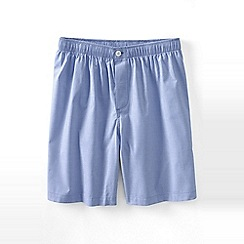 Lands' End - Blue broadcloth pyjama shorts