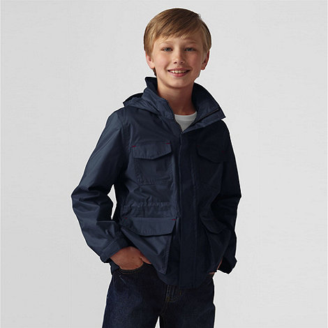 Lands+ End - Blue Boys+ Fleece-Lined Navigator Rain Jacket