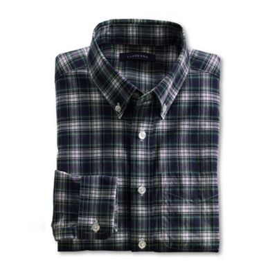 Blue Boys Long Sleeve Pattern Poplin Shirt