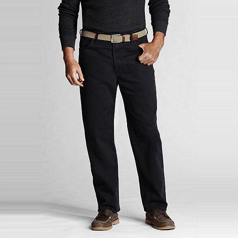 Lands+ End - Black dyed denim jeans