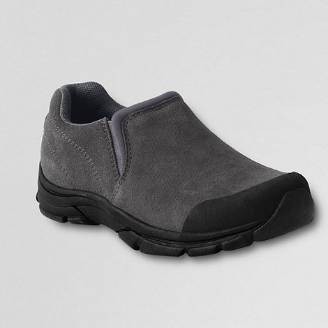 Lands+ End - Grey Boys+ All Weather Slip-On Shoes