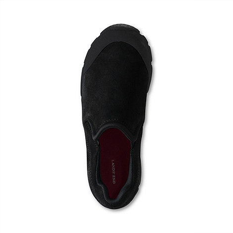 Lands+ End - Black boys+ all weather slip-on shoes