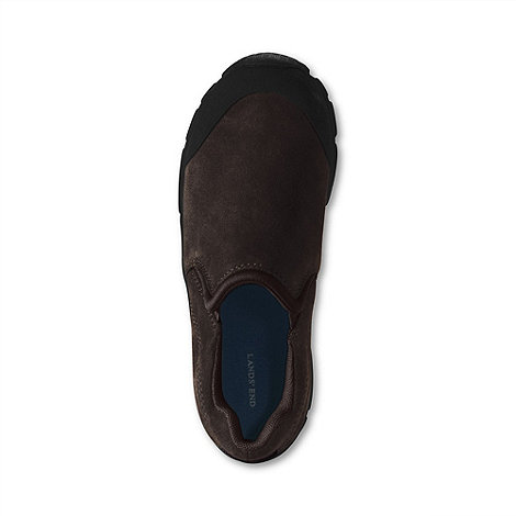 Lands+ End - Brown boys+ all weather slip-on shoes