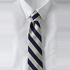 Lands' End - Blue men's wide stripe silk tie