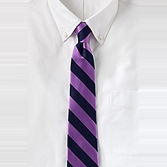 Lands' End - Purple men's wide stripe silk tie