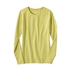 Lands' End - Yellow women's regular long sleeve cotton/modal crew neck tee