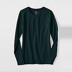 Lands' End - Green women's regular long sleeve cotton/modal crew neck tee