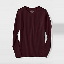Lands' End - Purple women's regular long sleeve cotton/modal crew neck tee
