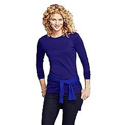 Lands' End - Blue women's petite long sleeve cotton/modal crew neck tee