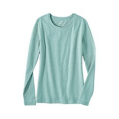 Lands' End - Multi women's petite long sleeve cotton/modal crew neck tee