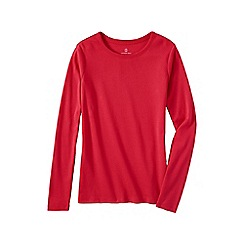 Lands' End - Pink women's petite long sleeve cotton/modal crew neck tee