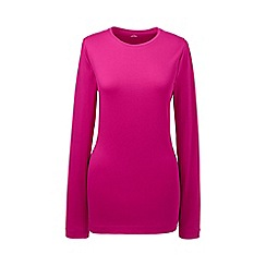 Lands' End - Pink petite long sleeve cotton/modal crew neck tee