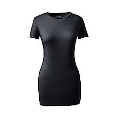 Lands' End - Black short sleeve cotton/modal crew neck