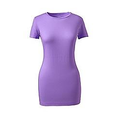 Lands' End - Purple short sleeve cotton/modal crew neck