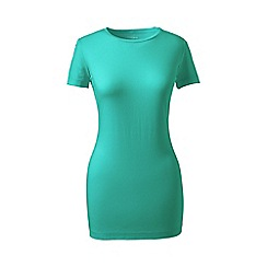 Lands' End - Green petite short sleeve cotton/modal crew neck