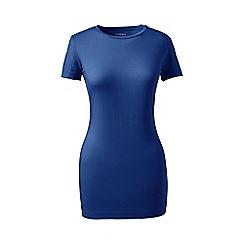 Lands' End - Blue petite short sleeve cotton/modal crew neck
