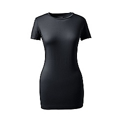 Lands' End - Black petite short sleeve cotton/modal crew neck