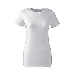 Lands' End - White plus cotton/modal crew neck tee