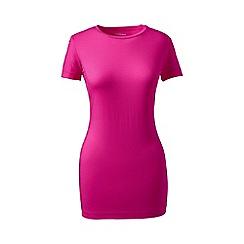 Lands' End - Pink plus cotton/modal crew neck tee