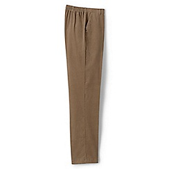 Lands' End - Brown back-elastic tapered cord trousers