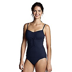 Lands' End - Blue scoop neck tankini top