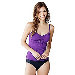Lands' End - Purple scoop neck tankini top