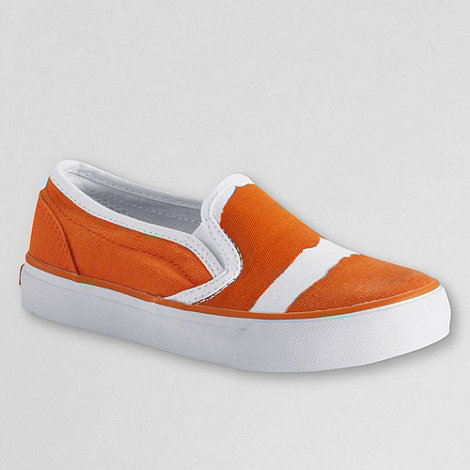 Lands+ End - Orange Boys+ Canvas Deck Shoe