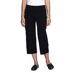 Lands' End - Black women's regular refined stretch jersey crops