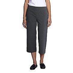 Lands' End - Grey women's regular refined stretch jersey crops