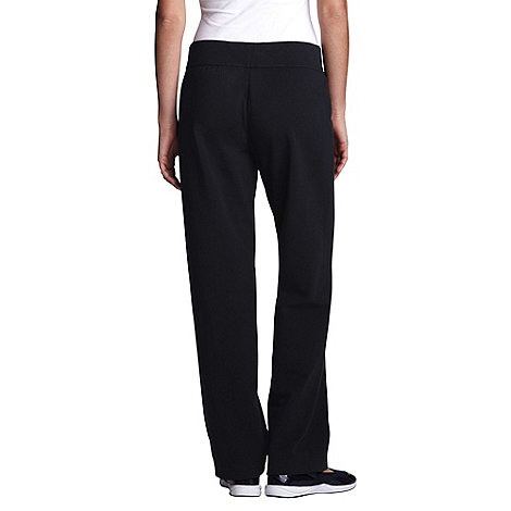 Lands+ End - Black regular refined knit trousers