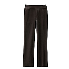 Lands' End - Brown women's regular starfish refined stretch jersey straight-leg trousers