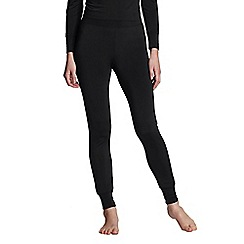 Lands' End - Black regular thermaskin heat longjohns