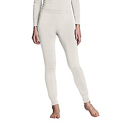 Lands' End - Cream women's regular thermaskin heat longjohns