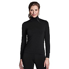 Lands' End - Black regular thermaskin heat roll neck