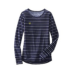 Lands' End - Blue regular thermaskin heat crew neck
